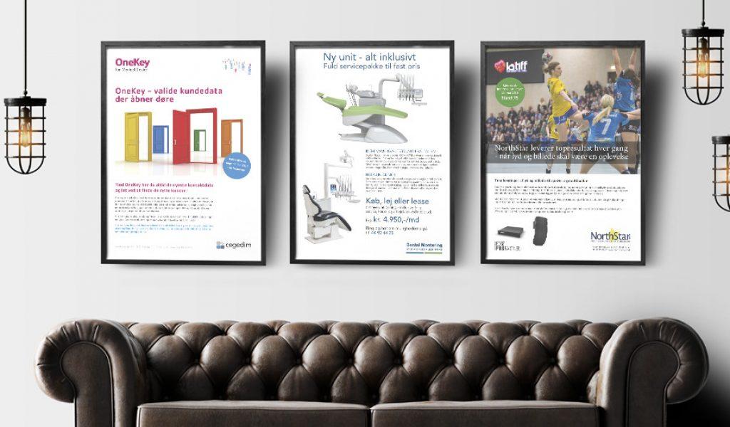Annoncer Alles Anders grafisk design og tekstarbejde